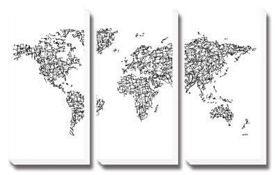 World Map by Charlotte Bassin
