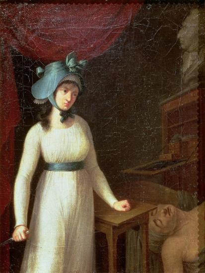Charlotte Corday (1768-93) and the Assassination of Jean Paul Marat (1743-93), 13th July 1793--Giclee Print
