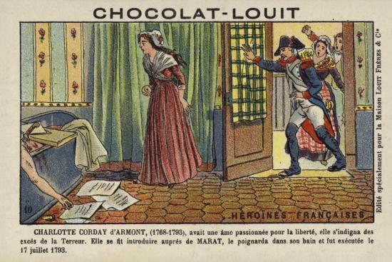 Charlotte Corday, Assassin of French Revolutionary Leader Jean-Paul Marat, 1793--Giclee Print