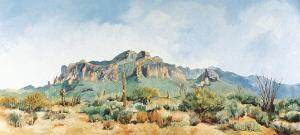 Superstition Mountain by Charlotte Klingler
