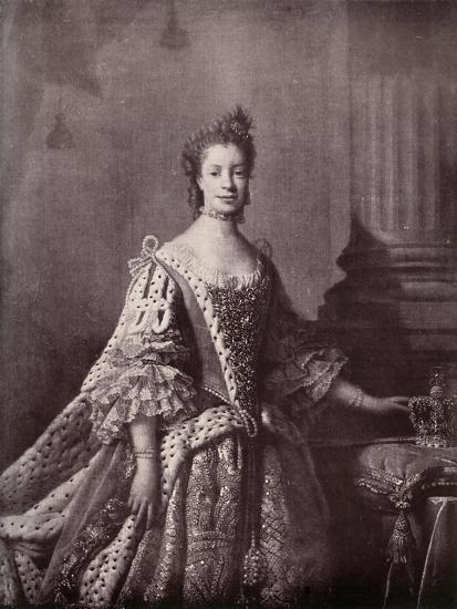 'Charlotte Sophia of Mecklenburg-Strelitz, Queen Consort of George III', 1761-1762, (1919)-Unknown-Giclee Print