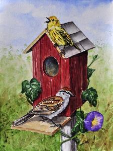 Chipping Sparrow and Yellow Warbler by Charlsie Kelly