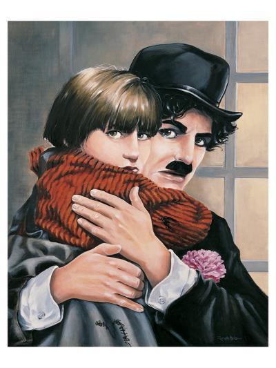 Charly Chaplin - the Kid-Renate Holzner-Art Print