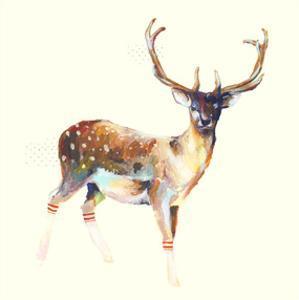 Deer Wearing Gym Socks by Charmaine Olivia