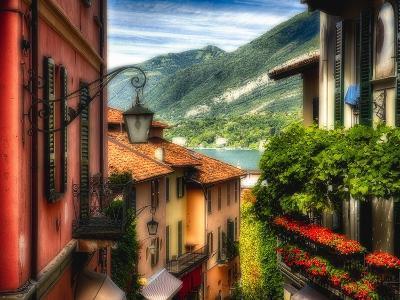 Charming Street Scene in Bellagio II-George Oze-Photographic Print