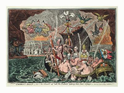 Charon's Boat or the Ghosts of All the Talents Taking their Last Voyage--Giclee Print