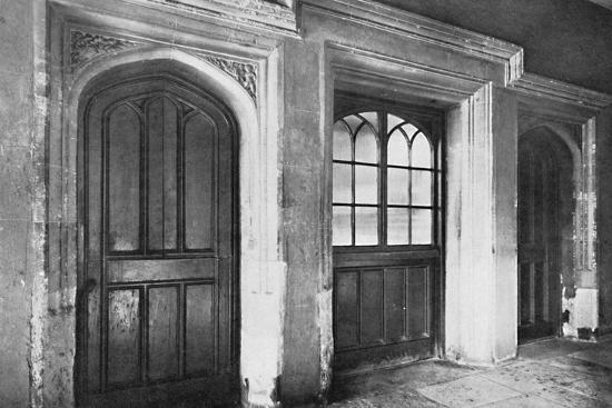 Charterhouse. Doorways Leading from the Screen-Passage of the Hall to the Kitchen and Offices-Unknown-Photographic Print