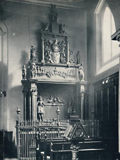 'Charterhouse. Thomas Sutton's Monument in the Chapel', 1925-Unknown-Photographic Print