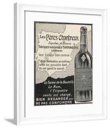 Charteuse Advert 1906--Framed Giclee Print