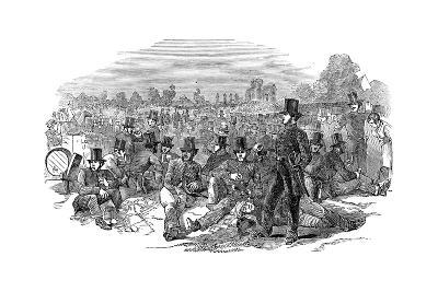 Chartist Agitation, the Police Force on Bonner's Fields, 1848--Giclee Print