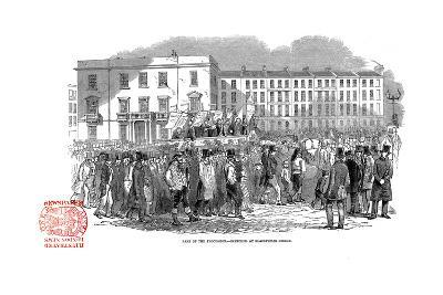 Chartists Procession from the Mass Meeting Towards Blackfriars Bridge, London, 10 April 1848--Giclee Print
