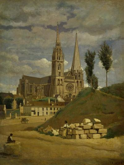 Chartres Cathedral, 1830-Jean-Baptiste-Camille Corot-Giclee Print