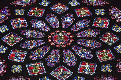 Chartres Cathedral, Stained Glass, Chartres, Eure Et Loir, France-Walter Bibikow-Photographic Print