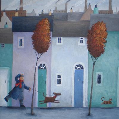 Chasing Cats-Peter Adderley-Art Print