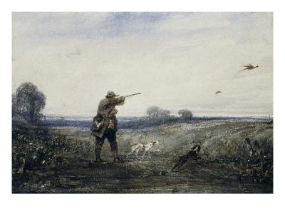 Chasse au faisan-Alexandre Gabriel Decamps-Giclee Print