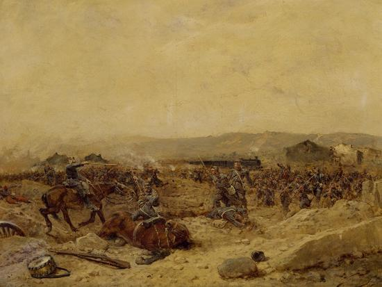 Chasseurs XII Arriving at Peltre, September 27, 1870. Franco-Prussian War--Giclee Print