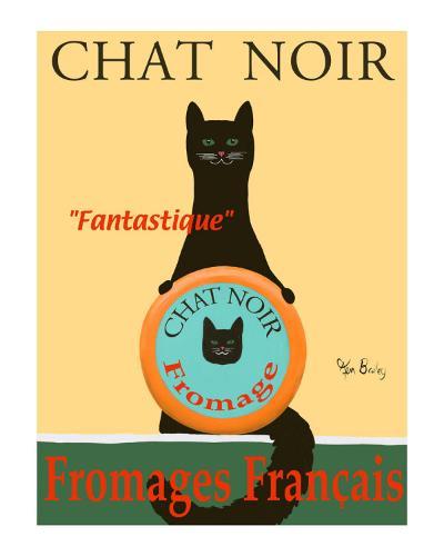 Chat Noir II - Black Cat-Ken Bailey-Collectable Print