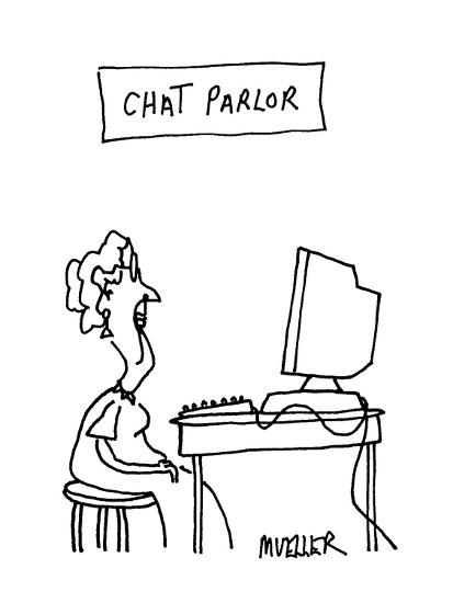 Chat Parlor - Cartoon-Peter Mueller-Premium Giclee Print