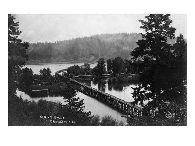 Chatcolet, Idaho - Oregon and Northwestern Railroad Bridge-Lantern Press-Art Print