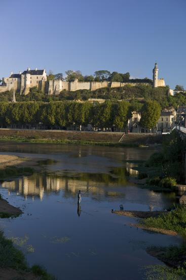 Chateau and River Vienne, Chinon, Indre-Et-Loire, Touraine, France, Europe-Rob Cousins-Photographic Print