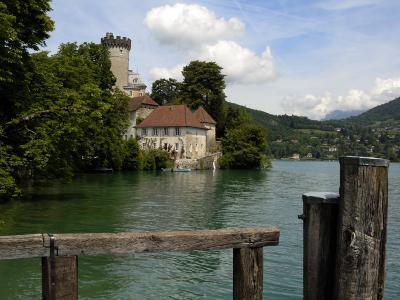 Chateau at Duingt, Lake Annecy, Annecy, Rhone Alpes, France, Europe-Richardson Peter-Photographic Print