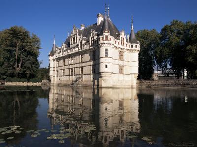 Chateau Azay Le Rideau, Unesco World Heritage Site, Indre-Et-Loire, Loire Valley, Centre, France-Guy Thouvenin-Photographic Print