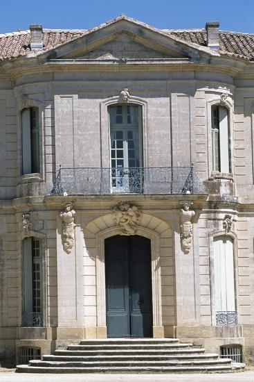 Chateau D'Angarran Main Facade, Near Laverune, Languedoc-Roussillon, Detail, France--Giclee Print