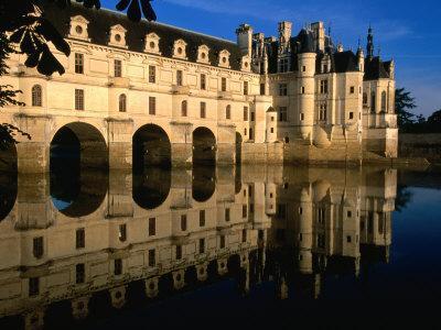 Chateau De Chenonceau along Cher River, Tours, France-John Elk III-Photographic Print