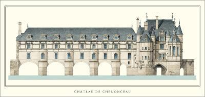 Chateau de Chenonceau, Loire-Philibert Delorme-Art Print
