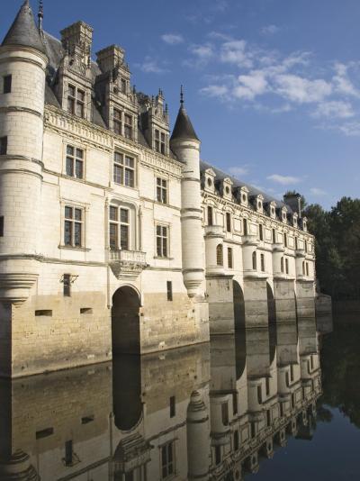Chateau De Chenonceau Reflected in the River Cher, Indre-et-Loire, Pays De La Loire, France, Europe-James Emmerson-Photographic Print