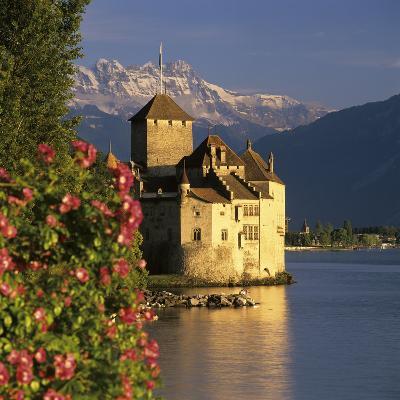 Chateau De Chillon (Chillon Castle) on Lake Geneva, Veytaux, Vaud Canton, Switzerland-Stuart Black-Photographic Print