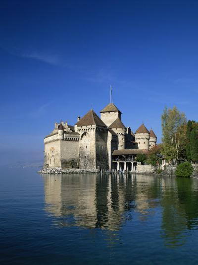 Chateau De Chillon on Lake Geneva, Switzerland, Europe--Photographic Print