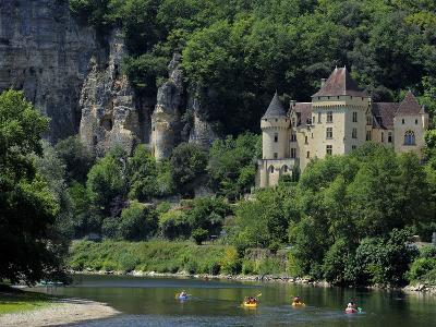 Chateau De La Malartrie, on the River Dordogne, La Roque-Gageac, Dordogne, France, Europe-Peter Richardson-Photographic Print