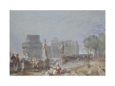Chateau De Nantes C 1830 Watercolour And Bodycolour With Pen And Brown And Black Ink Giclee Print J M W Turner Art Com