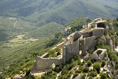 Chateau De Peyrepertuse, a Cathar Castle, Languedoc, France, Europe-Tony Waltham-Photographic Print
