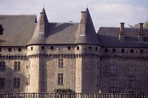Chateau De Pompadour's Facade, Arnac-Pompadour, Limousin, Detail, France