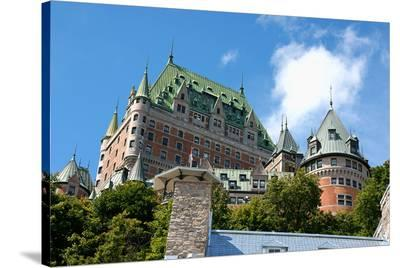 Chateau Frontenac Quebec City--Stretched Canvas Print