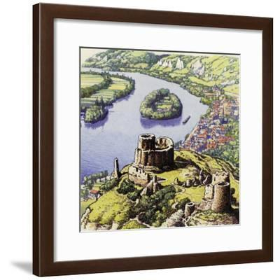 Chateau Gaillard, also known as the New Castle of the Rock-Pat Nicolle-Framed Giclee Print