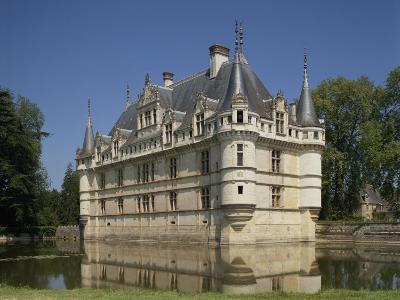 Chateau of Azay-Le-Rideau, UNESCO World Heritage Site, Indre-et-Loire, Loire Valley, Centre, France-Harding Robert-Photographic Print