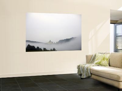 Chateau of Castelnaud in the Dordogne Valley Through Morning Mist-Barbara Van Zanten-Wall Mural