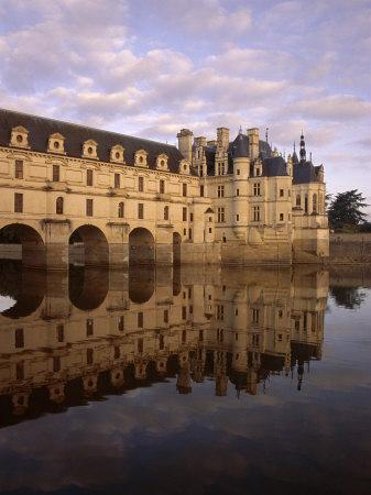 Chateau of Chenonceaux, Reflected in Water, Loire Valley, Centre, France, Europe-Jeremy Lightfoot-Photographic Print