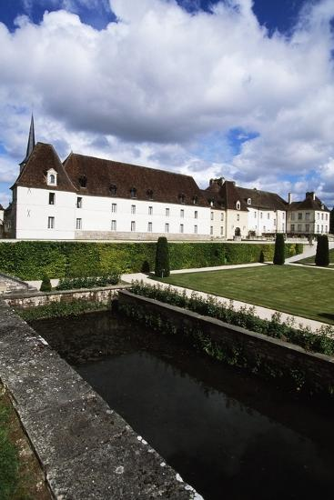 Chateau of Gilly in Gilly-Les-Citeaux Seen from Garden, Burgundy, France--Photographic Print