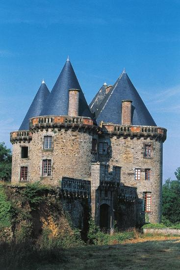 Chateau of Landal, Founded in 12th Century, Broualan, Brittany, France--Photographic Print