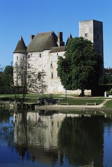 Chateau of Nemours Seen from Loing River, Ile-De-France, France--Photographic Print