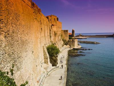 Chateau Royal and the Harbour at Collioure-Glenn Beanland-Photographic Print