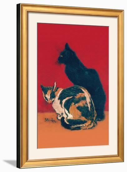 Chats-Th?hile Alexandre Steinlen-Framed Photographic Print