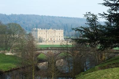 Chatsworth House from the West over the River Derwent, Derbyshire--Photographic Print