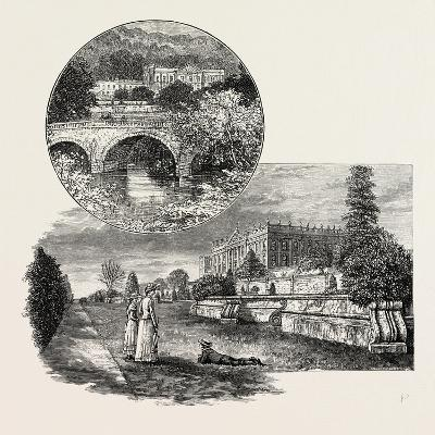 Chatsworth House Is a Stately Home in North Derbyshire--Giclee Print