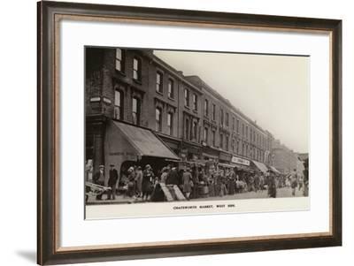 Chatsworth Market, West Side--Framed Photographic Print