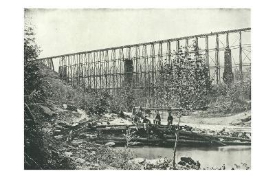 Chattanooga Railroad on Falling Water Bridge--Art Print